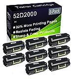 Paquete de 8 cartuchos de impresora láser MS810de MS810dn MS810dtn MS810n MS811dn MS811dtn MS811n (alta capacidad) de repuesto para Lexmark 52D2000