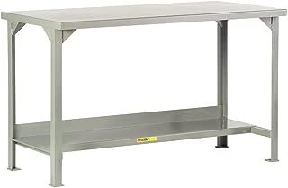 Little Giant WST2-2460-36 Welded Steel Workbench, 4500 lb. Load Capacity, 1 Half-Shelf, 36