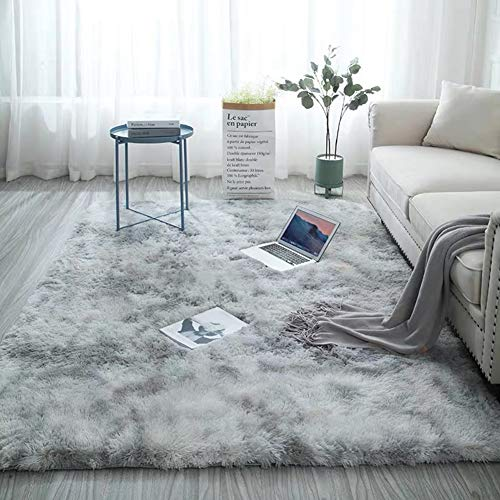 YESBAY Soft Faux Sheepskin Fur Rugs Square Furry Rug for Bedroom Silky Fuzzy Carpet, for Living Room&Girls Rooms Carpet Light Gray 120200cm