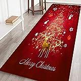 Hankyky Christmas Reindeer, Xmas Tree,Stocks Floor Runner Area Rugs Non-Slip Floor Mat Doormats Living Room Bedroom