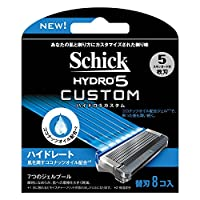 Schick(シック) シック Schick 5枚刃 ハイドロ5 カスタム ハイドレート 替刃 8コ入 男性 カミソリ 替刃8個 単品 ハイドロ5カスタム替刃8個