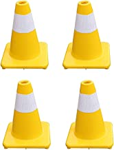 AJZGF Traffic Cone Automobile Traffic Warning Cones Road Parking Security Guard Highway Traffic Cone H-30CM Highway Traffic Cone (Size : 4pcs)