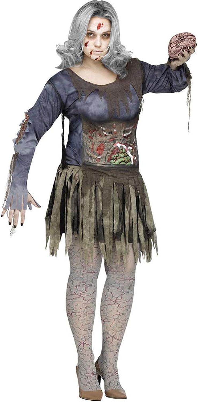 Costume da zombie per donna taglia gree htuttioween XL