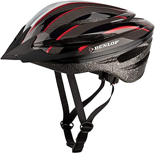 Dunlop HB1321 Fahrradhelm für Damen/Herren/Kinder Fahrrad ROT/M, TÜV geprüft, Größe wählbar, EPS Schale, Visier abnehmbar, Leichter Helm für City/MTB/Trekking Bike