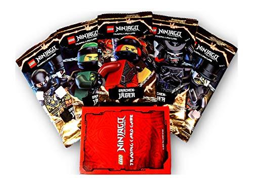 Serie 4 Ninjago Sammelkarten Drachenjäger eine Limitierte Karte und 5 Booster