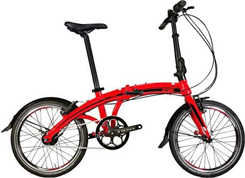 Rymebikes City Bicicleta Plegable, Unisex Adulto, Rojo, Talla Única