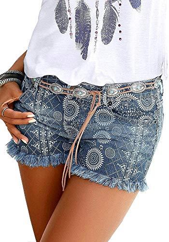 Buffalo Damen Jeans Shorts (Jeansblau, 34)
