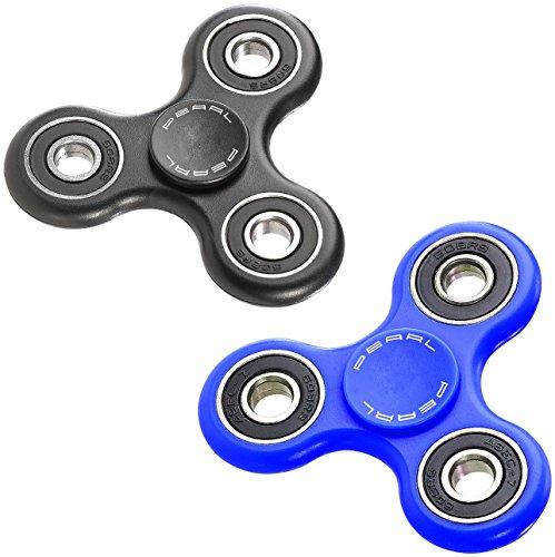 PEARL Gadget: 2er-Set Hand-Spinner mit ABEC-7-Kugellager, je 1x blau & schwarz, 52 g (Fidget Spinner als Handspielzeug)