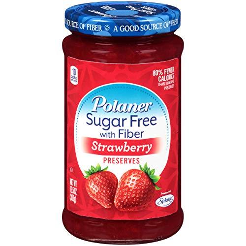 Polaner Sugar-Free Strawberry Preserves with Fiber, 13.5 Ounce