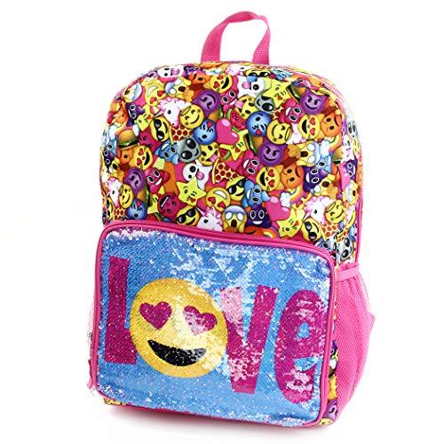 """Emoji Festival Flip Sequin Pocket Backpack 14"""""""