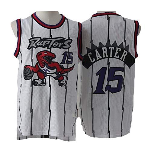Zyf Camiseta Baloncesto Baloncesto Masculino Jersey # 15 Vince Carter, Transpirable Resistente Al Desgaste Bordó La Camiseta Camiseta, XS-XXL (Color : C, Size : XS)