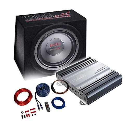 MAC AUDIO Basspaket - 2-Kanal Endstufe/Verstärker+30cm Subwoofer+Kabel-Set 800W / MPExclusive 2.0 + Edition BS 30 + REN10KIT