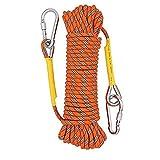 Multifuncional Cuerda Senderismo Rescate con Cuerdas de Rock al Aire Libre de Rescate de Naranja Acampar Cueva Hamaca 20M