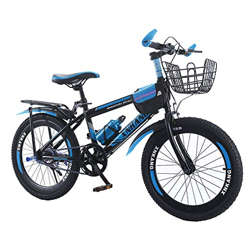 Kids Bicycle For Boys or Girls Age 8 and up Mountain Bike Bicycle 18,20,22,24 inches Mens MTB,Blue,22in