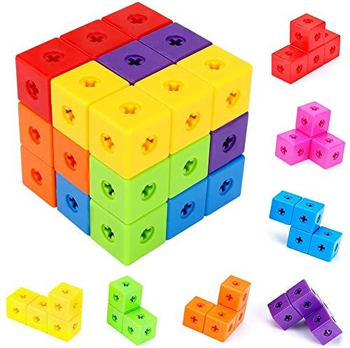 Best Fire キューブパズル 9コマ 3D立体パズル 積み木 ブロック 賢人パズル 知育玩具 ゲーム カラフル 形合わせ 子供向けパズル 早期教育 赤ちゃん 出産祝い ベビー 保育園 教具 男の子 女の子 お誕生日 小学生 知恵おもちゃ 早期開発