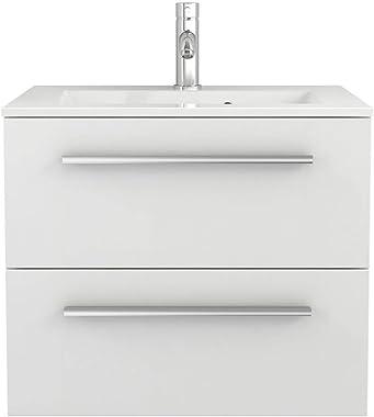 Sieper I Waschtischunterschrank 60 x 50 cm mit Waschtisch, Libato Badezimmermöbel, Badezimmerunterschrank I Weiß