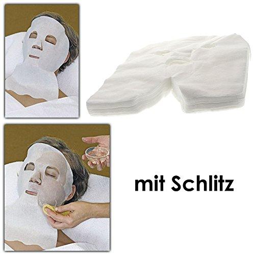 Vliesmasken Kosmetex, Anwendung mit Basensalz, basische Vliesmasken für Gesicht, Hals und Dekolletee, 50 Stck Kosmetex