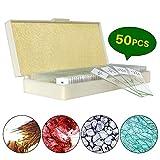 50 Vetrini Preparati per Microscopio Campioni - Biologici, Piante di Insetti Cellula per Studio di Biologia e Scienza di Laboratorio