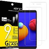 NEW'C 2 Unidades, Protector de Pantalla para Samsung Galaxy A01 Core, M01 Core, Antiarañazos, Antihuellas, Sin Burbujas, Dureza 9H, 0.33 mm Ultra Transparente, Vidrio Templado Ultra Resistente