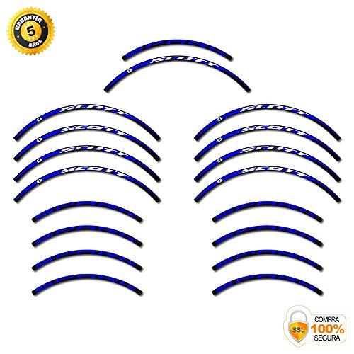 Scott Spark MTB - Adesivi per cerchioni da 29 pollici Original blu