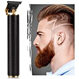 Electric Pro Li Outliner Hair Clippers Cordless Rechargeable Grooming Kits T-Blade Close Cutting Trimmer for Men 0mm Zero Gap Baldhead Beard Shaver Barbershop Professional (Black)