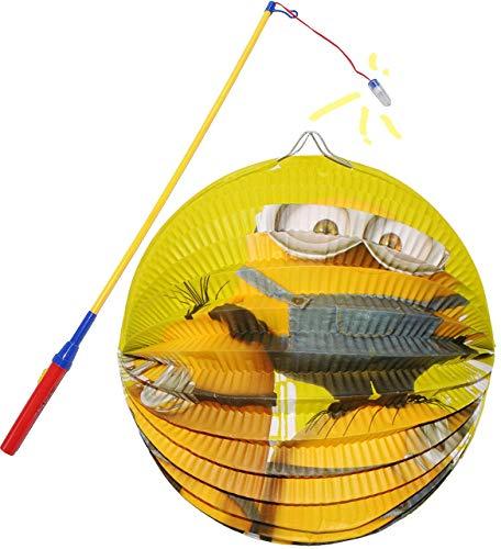 alles-meine.de GmbH 2 TLG. Set: Laterne / Lampion + LED Laternenstab -  Minions - Ich einfach unverbesserlich  - aus Papier - RUND - für Kinder Papierlaterne - Laternen Lampion..