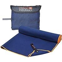 "Danish Endurance, Microfibra toalla de viaje, Azul Grisáceo (Dusty Blue), Talla Large: 23.6""x 47.2"""