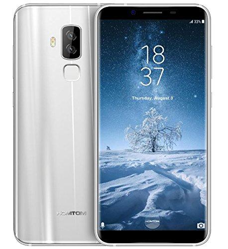 HOMTOM S8 - 5,7 Zoll (18: 9 Verhältnis Vollansicht) Android 7.0 4G Smartphone, Octa Core 1.5GHz 4GB RAM 64GB ROM, 7.9mm Ultra schlanke Metallrahmen - Silber