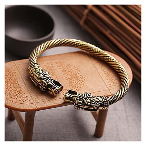 Depruies Bracelet viking, Bracelet Viking Hommes, Vikings Bouclier, Vikings Ax, bracelet vintage strass, câble à vis de serpent brassard indien Bracelet rétro, Viking Bracelets Hommes Femmes (Couleur: