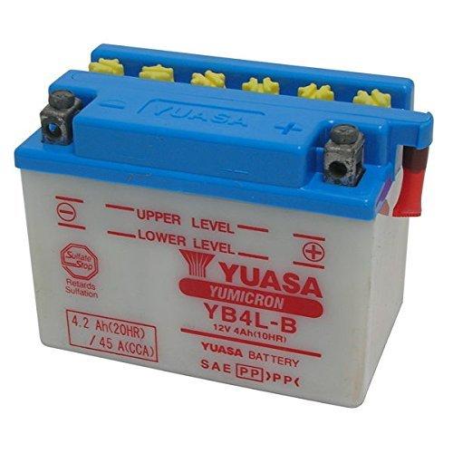 Batterie Yuasa YB4L-B mit Säure 12V/4AH für Aprilia Scarabeo Street 2T Hiper2 (THE00) 50 2005-2006