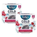 Infusión fría Tetley de hierbas y frutas con arándano y frambuesa - 2 x 12 bolsitas de té (54 gramos)