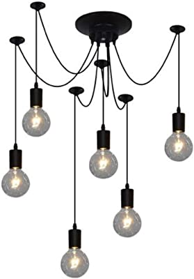American Retro RH Loft Straight Led Chandelier GoldBlack Metal Glass Globes Shades Pendant Chandelier Lighting Fixtures Contemporary Pendant Lights