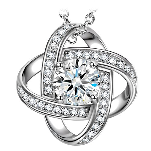 Alex Perry collares mujer cadena de plata mujer swarovski zirconia colgante joyas para mujer regalos san valentin mujer pendientes para boda niñas novia regalo para mujer madre e hija profesora