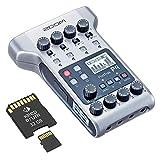 Zoom P4 Podtrak Podcast Recorder + Tarjeta de memoria de 32 GB
