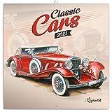 Classic Cars Wandkalender 2021 Kalender, Klassische Autos Broschürenkalender mit Monatskalendarium, Broschurkalender Autokalender 30 x 30 cm (30x60 Geöffnet)