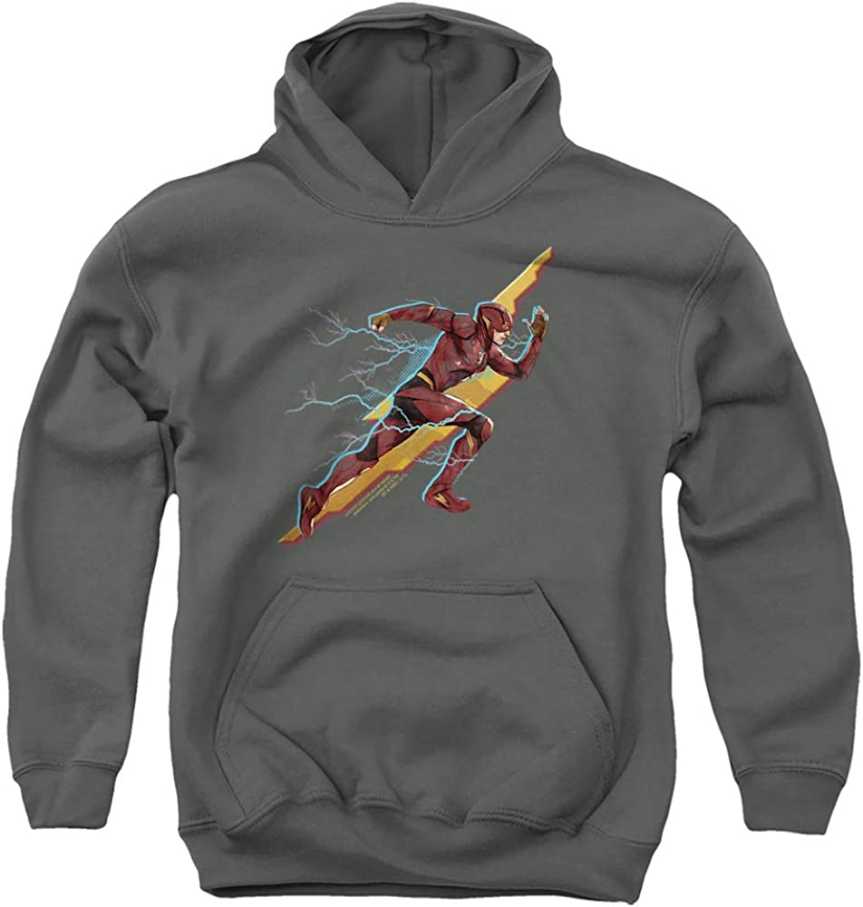 Justice Classic League Movie Flash Forward Unisex Pull-Over Hoodie Luxury goods Youth