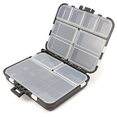 Naisicatar 1X Waterproof Fishing Lure Tackle Hook Bait Storage Box Case With 26 Compartments by Naisicatar