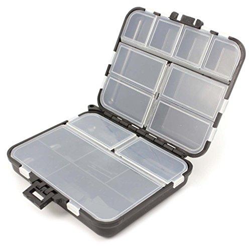 Naisicatar - 1 caja de almacenamiento impermeable para señuelos de pesca, con 26 compartimentos