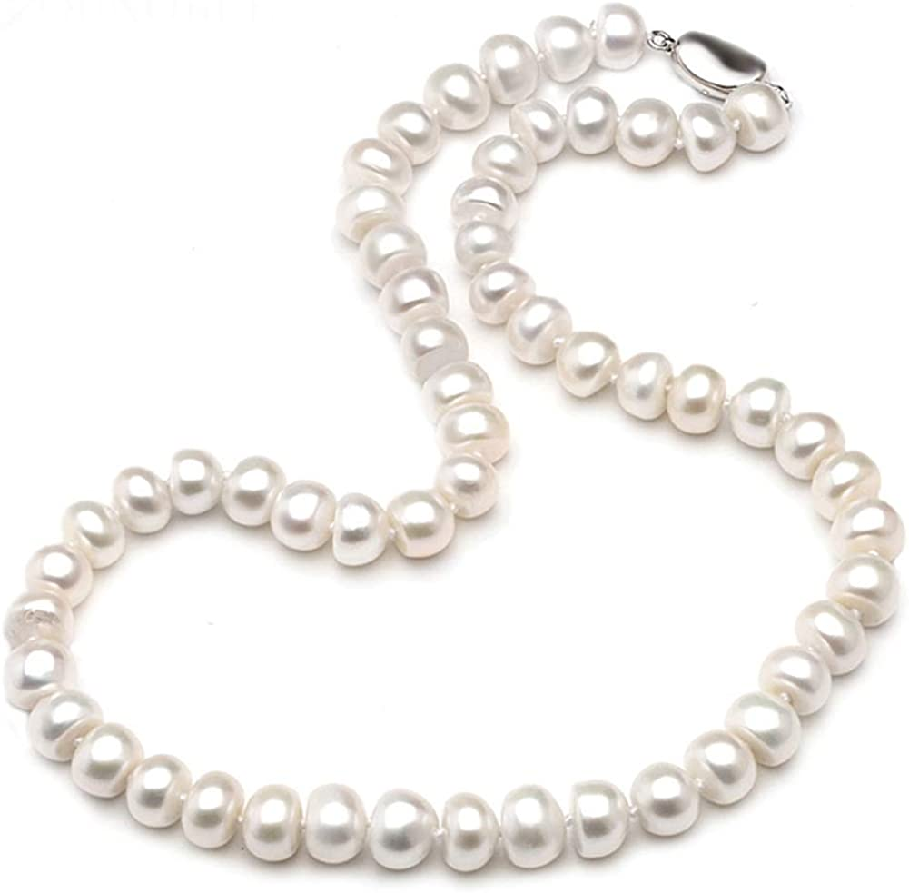 OFFicial store HENGSHENG White 2021 autumn and winter new Freshwater Cultured Natura Strand Pearl Necklace