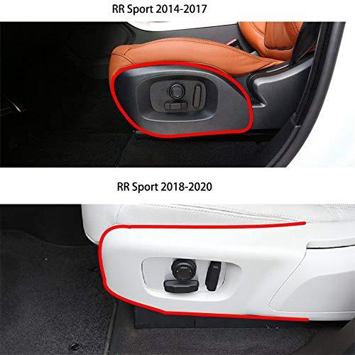 For Land Rover 2018-2020 Range Rover Sport Velar, 2017-2020 Discovery 5 (L462), ABS Chrome Seat Side Cover Frame Trim Car Interior Accessories Carbon Fiber