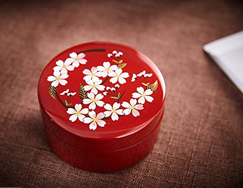 Cajas de joyería de, Caja de joyería Lacquerware de lámina de Oro Flor de Cerezo joyería joyería con Espejo Regalo de Boda de cumpleaños japoneses