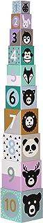 Kindsgut Blokkentoren van karton, dieren, print, getallen