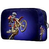 Beauty Case da Viaggio Antiurto Porta Trucchi Durevole Trousse Make Up Organizer Bag Grande Valigetta Trucco Professionali per Donna Uomo Motocicletta viola 18.5x7.5x13cm