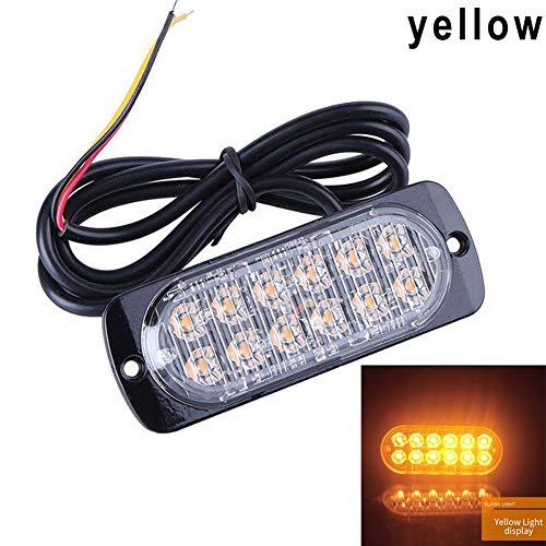 coflower Ultra-Mince LED 36W Allume Le Voyant d'alarme stroboscopique latéral de Camion de Secours à 12 LED