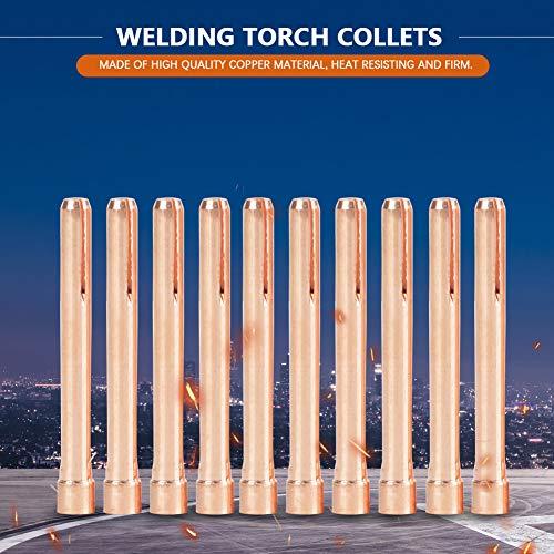 Pinzas de soldadura Tig de cobre duraderas, pinzas de antorcha de soldadura resistentes al calor de 1,97 pulgadas, 10N24 para antorcha de soldadura Tig