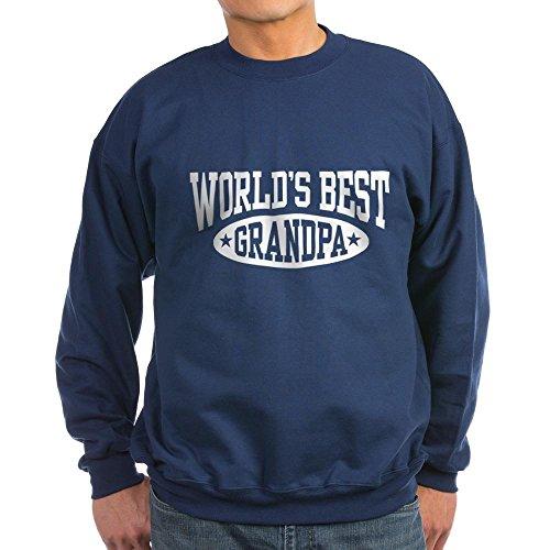 CafePress World's Best Grandpa Classic Crew Neck Sweatshirt Navy