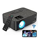 Projector, VILINICE 6000 Lux WiFi Projector, Bluetooth Mini Projector with Synchronize Smartphone Screen, Supports 1080P HD 240'Display, Compatible with Laptop, TV Stick, HDMI, VGA, USB, DVD, PS4