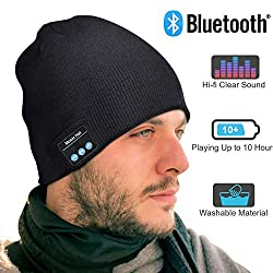 EVERSEE Bluetooth hat men & women gifts, Bluetooth hat with Bluetooth 5.0 headphones, unisex winter hat with headphones Bluetooth outdoor sports, skiing, running