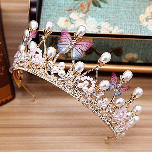 Ogquaton Prinzessin Braut Krone Tiara Stirnband Hochzeit Zubehör Krone Haarschmuck bequem und praktisch
