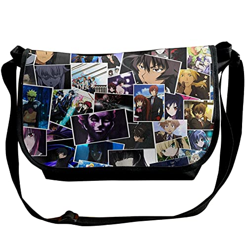 Anime CLANNAD solo hombro paquete cruzado casual hombres mujeres jóvenes moda hombro ajustable diario cinturón viaje senderismo